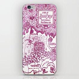 Map of Bohemia (pink) iPhone Skin