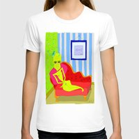 "matisse T-shirts featuring ""Stealing Matisse"" (Picasso Watching) by correia creative"