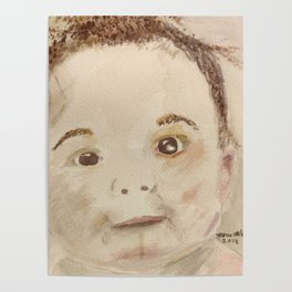 Baby bathtime Poster