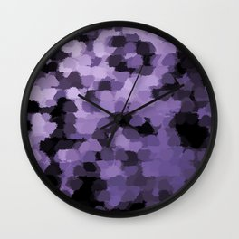 Dark abstract pattern on silver background Wall Clock