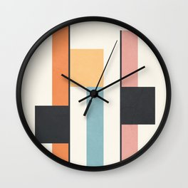 Clean Flow Geometry 4 Wall Clock