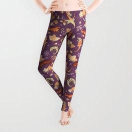 Autumn Geckos in purple Leggings