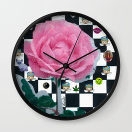 MY ROSE IS KAWAII Wall Clock