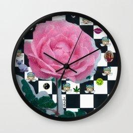 MY ROSE IS KAWAII Wall Clock