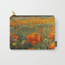 California Wildflower Poppy Superbloom Carry-All Pouch