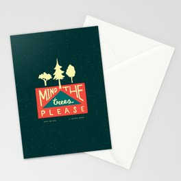 Mind the trees, please Stationery Cards