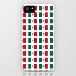Flag of mexico 3 - mexico,mexico city,mexicano,mexicana,latine,peso,spain,Guadalajara,Monterrey iPhone Case