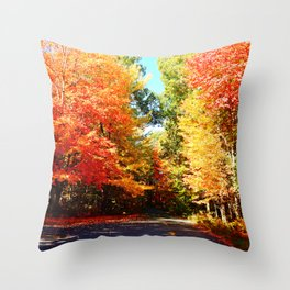 Road of Candied Trees Throw Pillow