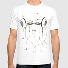 Out Of It MEDIUM Mens Fitted Tee White