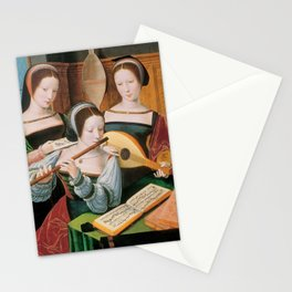 Master of the Female Half-Lengths - Three Female Musicians Stationery Cards