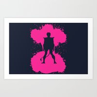 nightcrawler Art Prints featuring Nightcrawler by Adam Grey