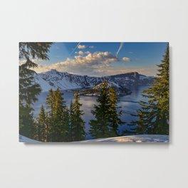 Crater Lake - Spring Metal Print