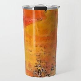 Orange Burst Travel Mug
