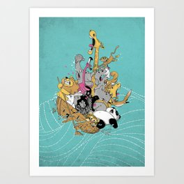 Hang On Tight! Art Print
