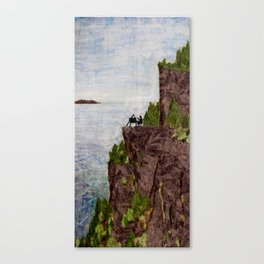 Painting on the Edge Canvas Print