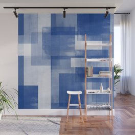 Untitled No. 7 | Blue + White Wall Mural