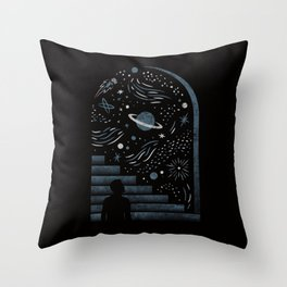 Open Space Throw Pillow