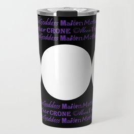 Moon Triple Goddess - Maiden Mother Crone Travel Mug