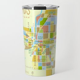 Illustrated Grand Rapids Map Travel Mug