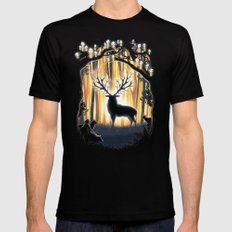 Master of the Forest MEDIUM Black Mens Fitted Tee