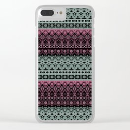 Greenish - pinkish ornament Clear iPhone Case