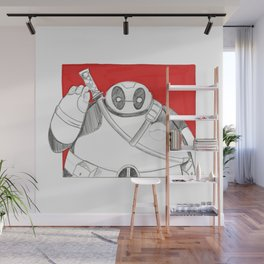 What if Baymax was Dead-pool Wall Mural