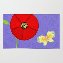 P is for Poppy Rug
