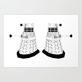 Doctor Who - Daleks Art Print