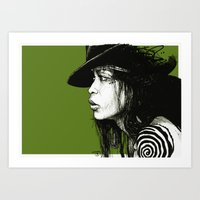 erykah badu Art Prints featuring Erykah Badu by ChrisGreavesCreative