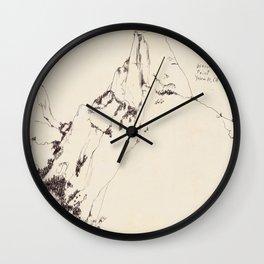 Yosemite Glacier Point Drawing Wall Clock