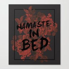 Namaste In Bed Canvas Print