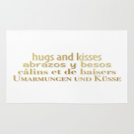 hugs and kisses Rug