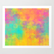 Light and Geometry Art Print