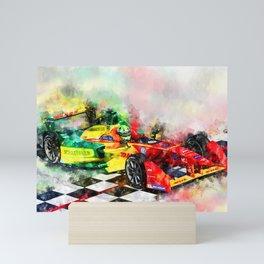 Lucas di Grassi, Formula E Mini Art Print