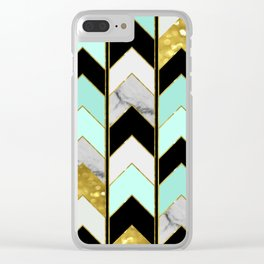 Chevron Lights Clear iPhone Case