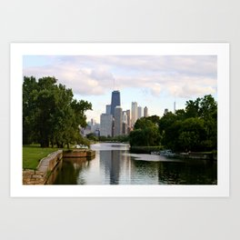 Chicago by River Art Print