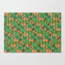 Jungle Jive pattern Canvas Print
