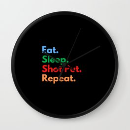 Eat. Sleep. Shot Put. Repeat. Wall Clock