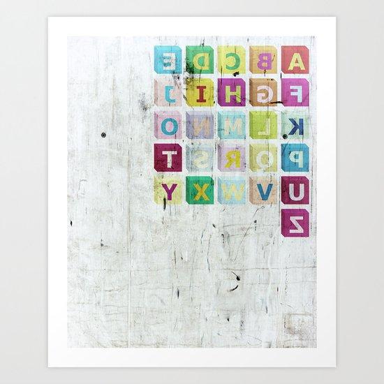 encrypted message Art Print