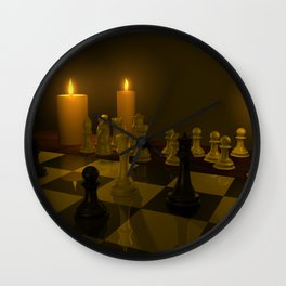 A Game of Chess 3D Modeled Scene Wall Clock