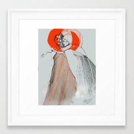 Simeon Farrar Fashion  Illustration by Dana Bocai Framed Art Print