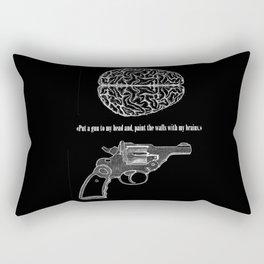 Put a gun to my head... Rectangular Pillow
