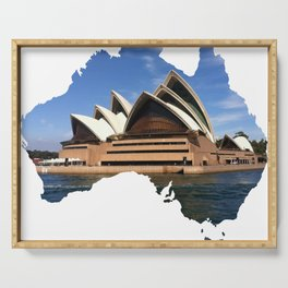Australian patriotic birthday gift, Australian Independence day, Sydney Opera House, Anzac day T-Shirt Serving Tray