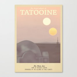 Retro Travel Poster Series - Star Wars - Tatooine Canvas Print