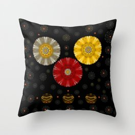 Color And Strawberrys Throw Pillow