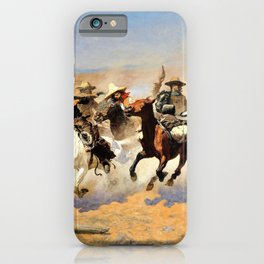 Frederic Remington - A Dash for the Timber - Digital Remastered Edition iPhone Case