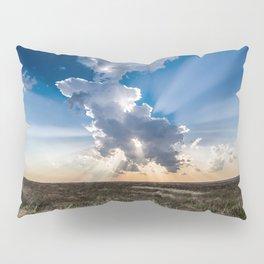 Explosion - Sunbeams Burst From Behind Storm Cloud in Kansas Pillow Sham