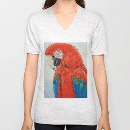 Crimson Macaw Unisex V-Neck