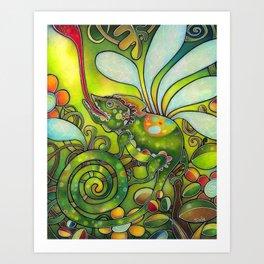 Guillermo Cameleon Art Print