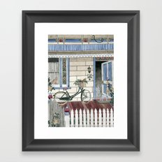 Staying at home Framed Art Print